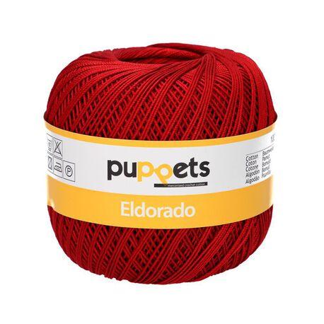 Kordonek Puppets Eldorado 50g czerwone wino 4321 (1)