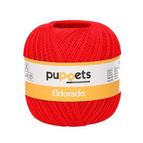 Kordonek Puppets Eldorado 50g czerwony 7046 (1)