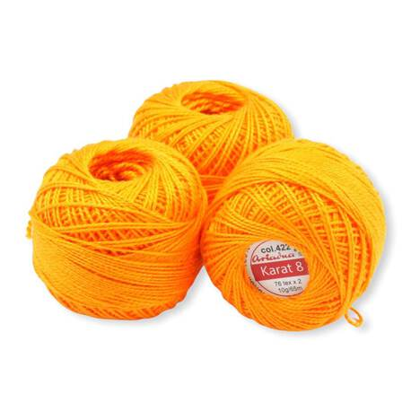 Kordonek do robótek Karat 8 kolor marchewkowy