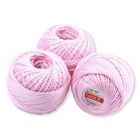 Kordonek Karat 8 kolor jasny różowy