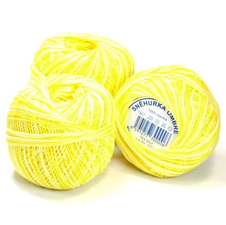 Żółty kordonek cieniowany Snehurka 30g