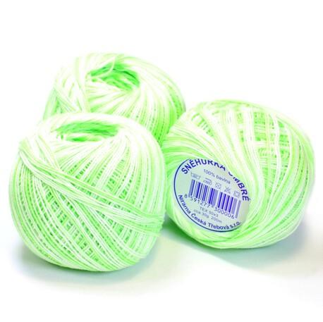 Cieniowany kordonek w kolorze jasnej zieleni o wadze 30g