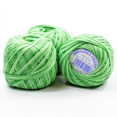 Kordonek Snehurka cieniowana w kolorze zielonym