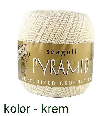 Kordonek bawełniany Pyramid w kolorze kremowym
