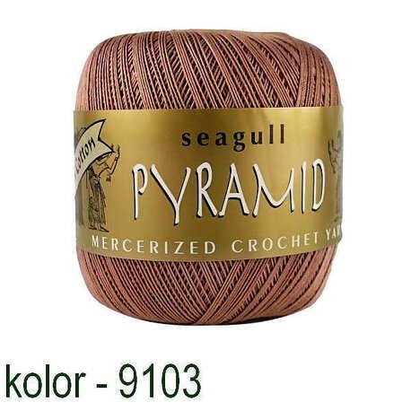 Kordonek Pyramid 100g w kolorze kakaowym