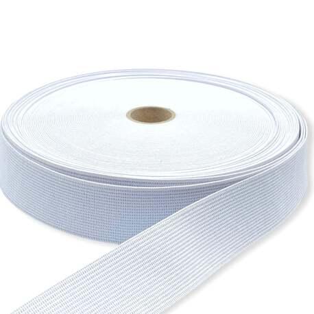Biała guma tkana elastyczna o szerokości 50mm