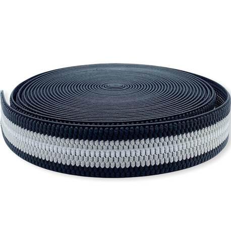 Guma szelkowa elastyczna czarno-biała 4cm