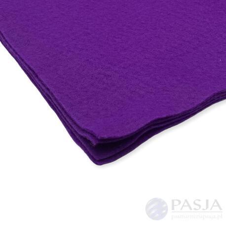 Filc dekoracyjny w arkuszu w kolorze fioletowym