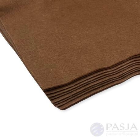 Miękki filc w arkuszu w kolorze brązowym