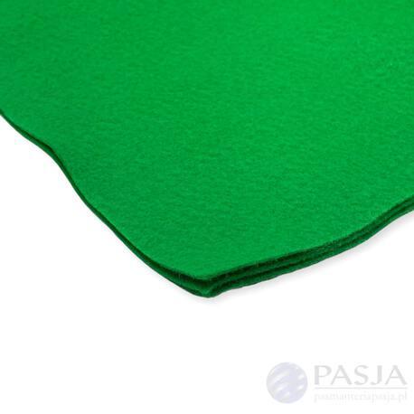 Filc w arkuszu do tworzenia ozdób - kolor zielony
