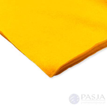 Filc dekoracyjny w kolorze złocisty żółty