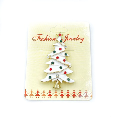 Broszka świąteczna choinka biała ZB 141 (1)