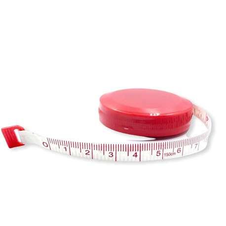 Miarka zwijana krawiecka kolor czerwony 150cm