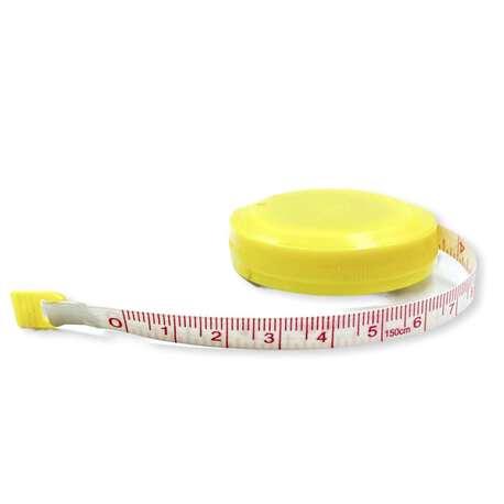 Żółty centymetr krawiecki plastikowy 150cm