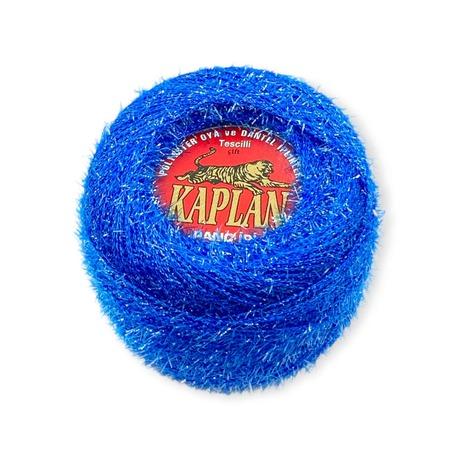 Metalizowany kordonek dekoracyjny Kaplan w kolorze niebieskim