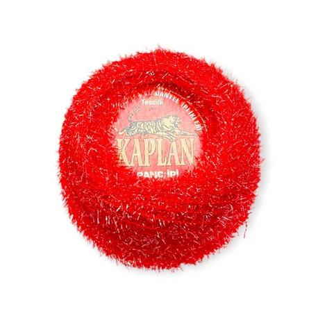 Kordonek ozdobny metalizowany Kaplan w kolorze czerwonym