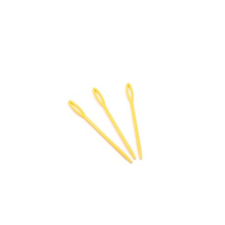 Igła plastikowa gruba żółta 9cm (1)