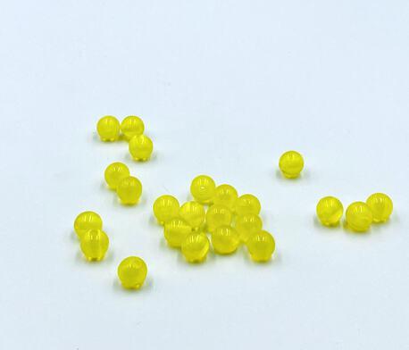 Koraliki plastikowe żółte 8mm (1)