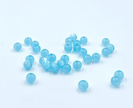 Koraliki plastikowe jasny niebieski 8mm (1)