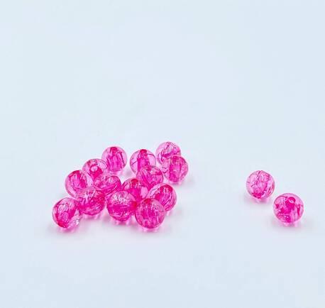 Koraliki plastikowe różowe przezroczyste 10mm (1)