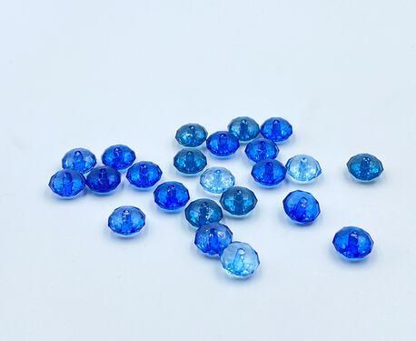 Koraliki plastikowe niebieskie paczka 10g (1)