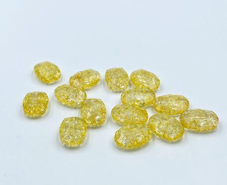 Koraliki plastikowe kryształki żółte 25x7mm (1)