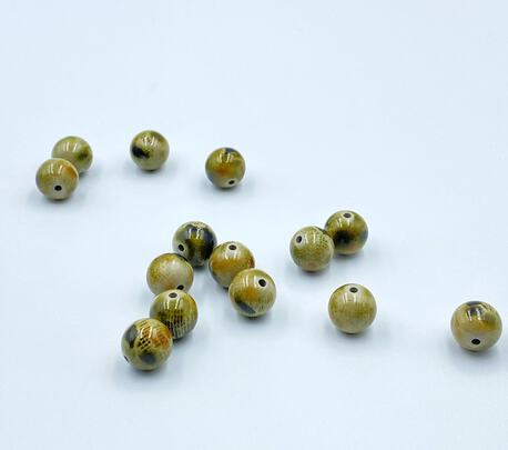 Koraliki plastikowe jajka we wzór 01 14mm (1)