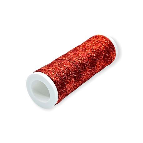 Nici Metalux metalizowane do szycia w kolorze czerwonym