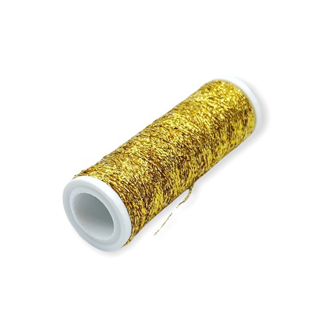 Nici do haftu złote na szpulce Metalux