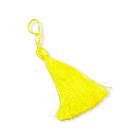 Żółty chwost ozdobny o długości 7cm