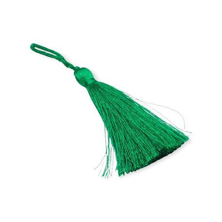 Chwost zdobniczy w kolorze zielonym 7cm