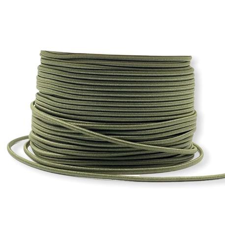Okrągła guma elastyczna kolor khaki 2,5mm