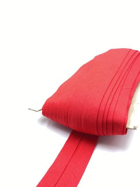 Lamówka bawełniana ze skosu czerwona (1)
