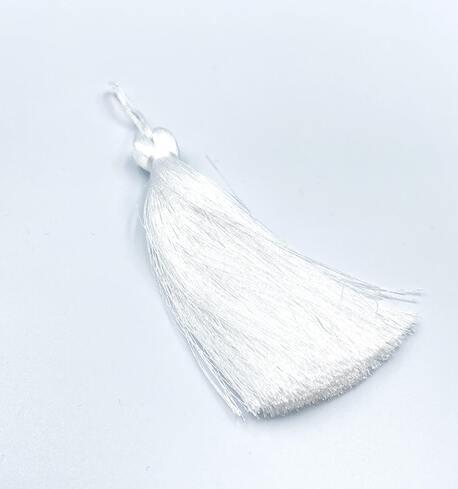 Chwost ozdobny 120mm biały (1)