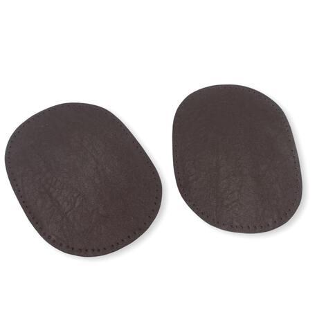 Łaty skórzane w kolorze brązowym do naszycia na koszulę lub inną odzież.