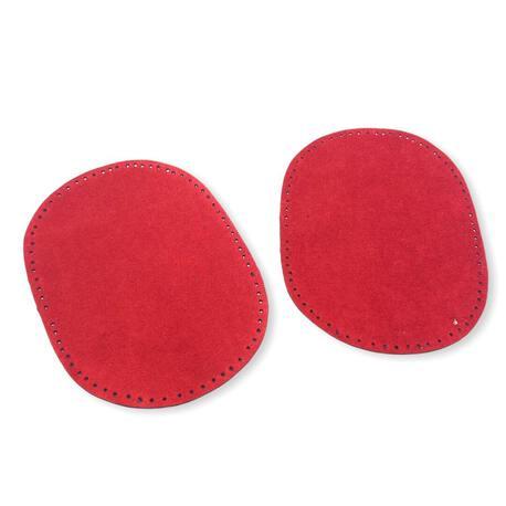 Łaty czerwone wykonane z zamszu do naszycia.