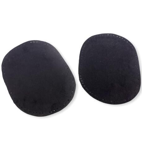 Łaty czarne do naszycia wykonane z zamszu.