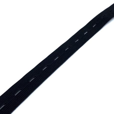 Guma dziana ciążowa z otworami czarna 18mm (1)
