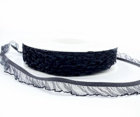 Guma ozdobna z falbanką czarna H7001 (1)