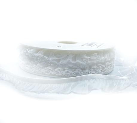Guma ozdobna z falbanką biała H1101 (1)