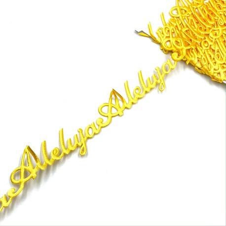 Naszywka w taśmie Alleluja w kolorze żółtym