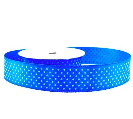 Wstążka ozdobna w kropki niebieska