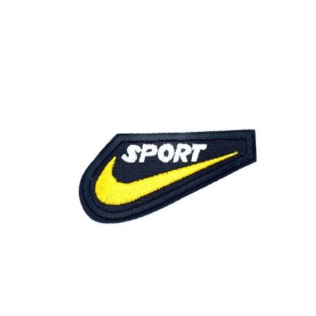 Naszywka termoprzylepna sport żółta