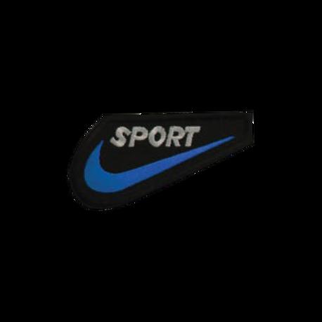 Aplikacja sportowa w kolorze niebieskim do przyprasowania żelazkiem