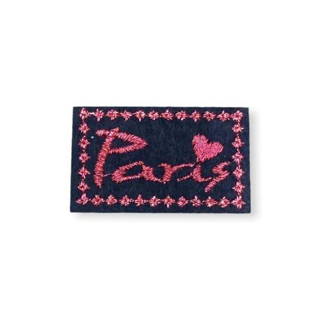 Aplikacja metalizowana z napisem na ubranie termo wzór Paris
