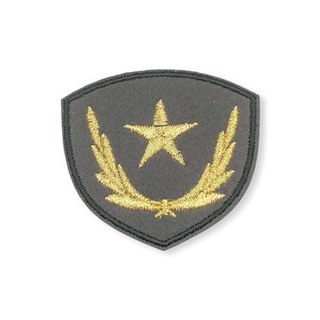 Aplikacja termo militarna do naprasowania z gwiazdą