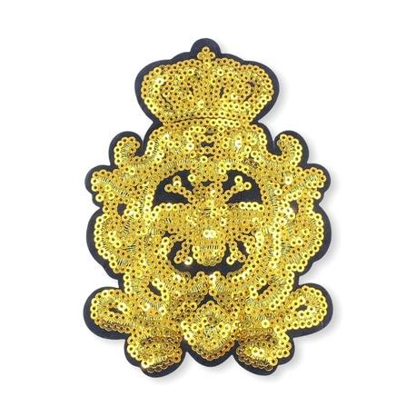 Aplikacja cekinowa we wzór herbu w kolorze złotym