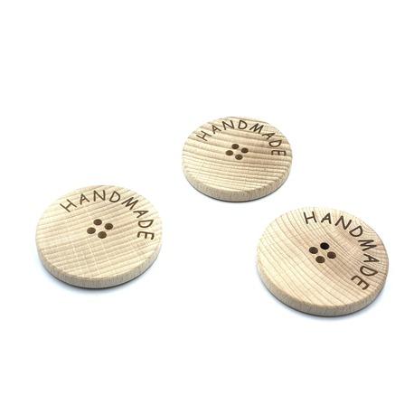 Guziki drewniane ozdobne do sweterków zrobionych ręcznie