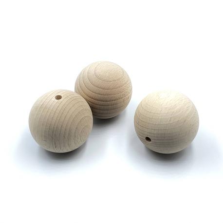 Duże kulki drewniane do makramy do przewlekania