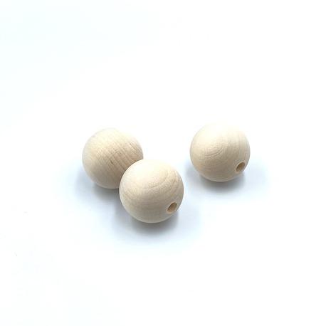 Korale o średnicy 25mm z drewna surowe do wykonania biżuterii, możesz je pomalować na dowolny kolor lub polakierować